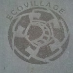 Detroit Shoreway EcoVillage Logo on the sidewalk